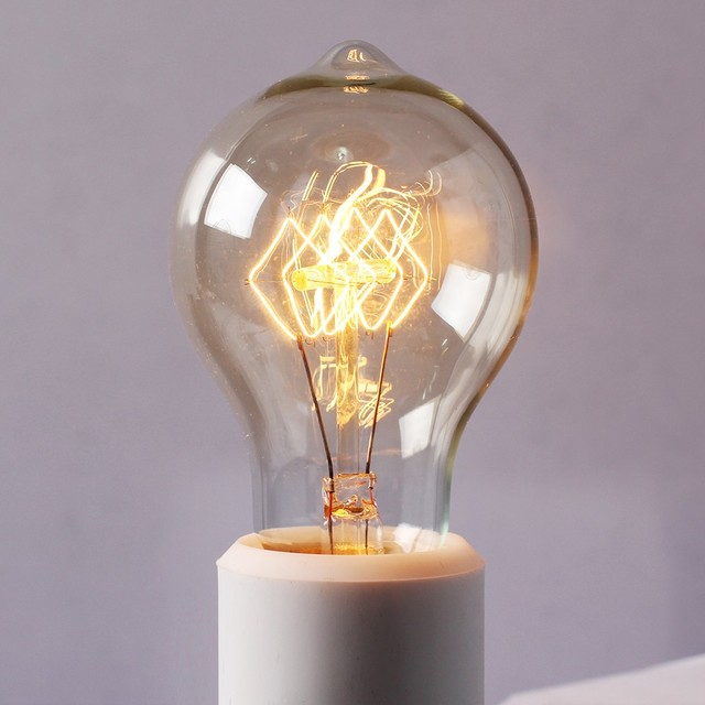 Vintage tungsten filament edison light bulbs 40 watts modern incandescent bulbs raleigh Tungsten light bulbs