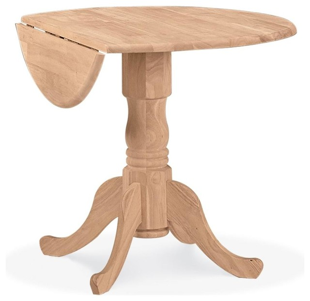 Dual Drop Leaf Pedestal Dinette Table Contemporary Dining Tables