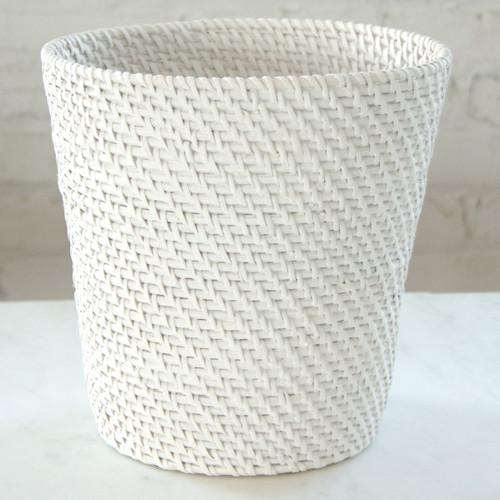 LaMont Rt4300150 Cayman Wastebasket, White contemporary-wastebaskets