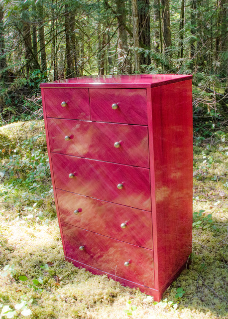 Obliquo D600 Purple Heart Wood Dresser eclectic dressers chests and