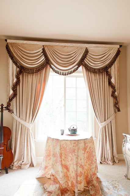 Pearl Dahlia Elegant Designer Valance Curtains With