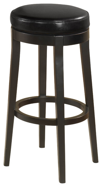 26 Quot Backless Swivel Barstool Black Contemporary Bar