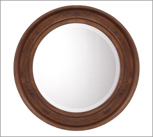 Barrel Mirror - Traditional - Wall Mirrors - by Pottery Barn