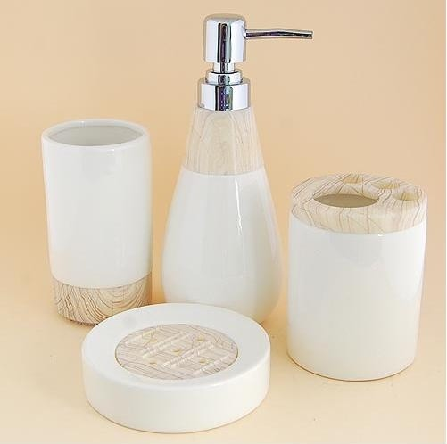 grain pattern ceramic bath accessory set modern bathroom accessories