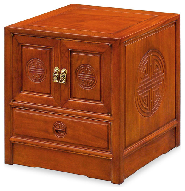 Rosewood Longevity Design Night Stand asian-side-tables-and-end-tables