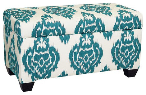 Skyline Furniture Upholstered Storage Bench eclectic-accent-and-storage-benches
