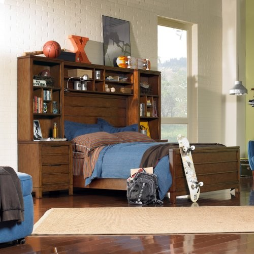 Carter Bookcase Storage Bed contemporary-beds