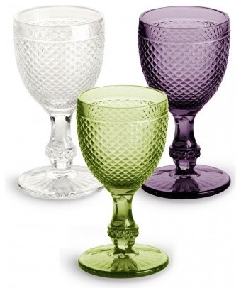 Pressed Glass Goblet traditional-everyday-glasses