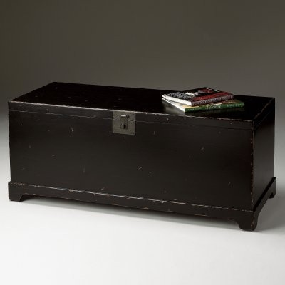 Butler Cocktail Trunk - Black modern-coffee-tables