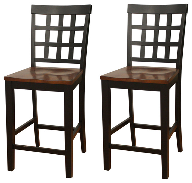 ... Back Counter Height Dining Chair (Set of 2) traditional-dining-chairs