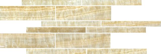 Honey Onyx Creme Mosaic contemporary-tile