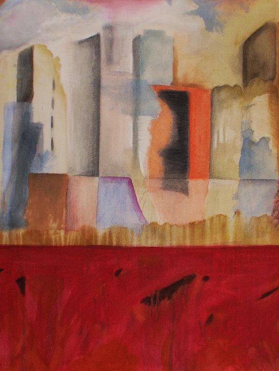 St. Regis Cityscape - Acrylic on Canvas, 5' x 5'.