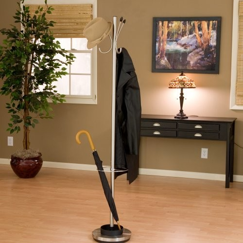 Adesso Jade Metal Standing Coat Rack and Umbrella Stand contemporary coat stands and umbrella stands
