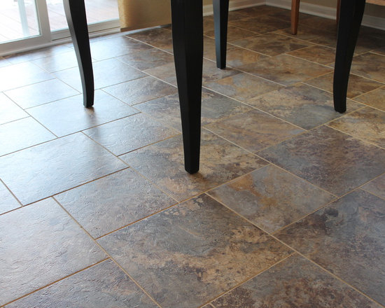 Armstrong Alterna Luxury Vinyl Tile - Armstrong Alterna Reserve - Allegheny Slate - Bronze Age with Corn Silk Grout