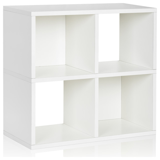 Way Basics Stackable Cubby Bookcase, White modern-storage-units-and ...