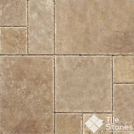 Tuscany Chocolate Travertine Versailles Pattern
