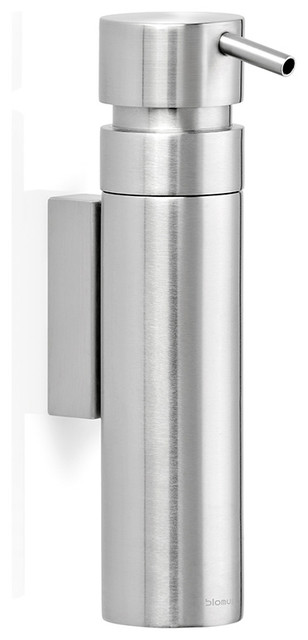 Nexio Wall-Mounted Soap Dispenser, Brushed contemporary-bath-and-spa-accessories