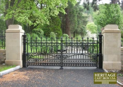 Cast Iron Driveway Gates5.jpg traditional-home-fencing-and-gates