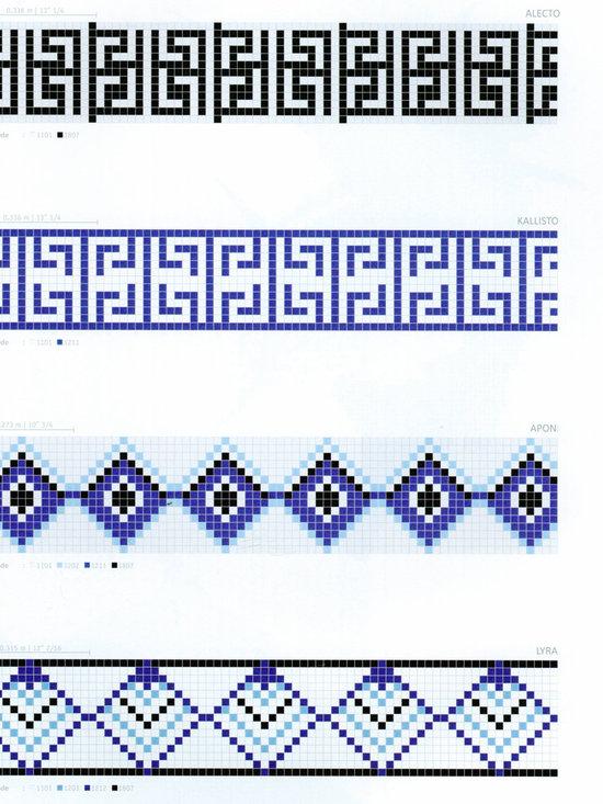 Glass Mosaic Tile -- Borders -