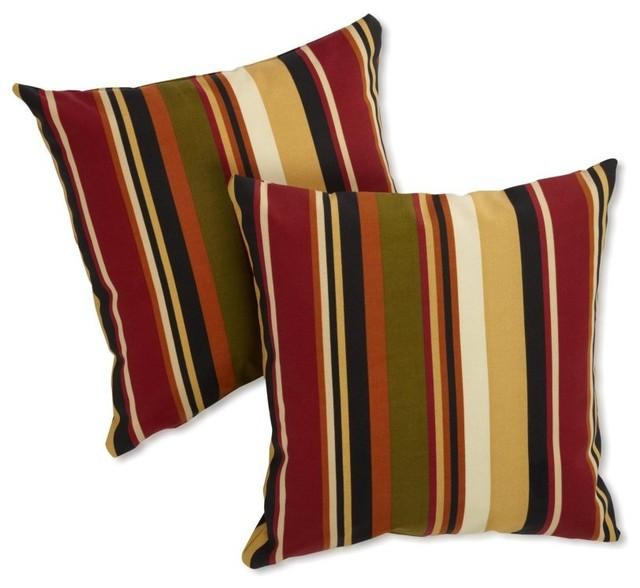 Blazing Needles Outdoor 25 x 25 Jumbo Throw Pillows - Set of 2 - 9940-S-2-REO-12 contemporary-outdoor-pillows