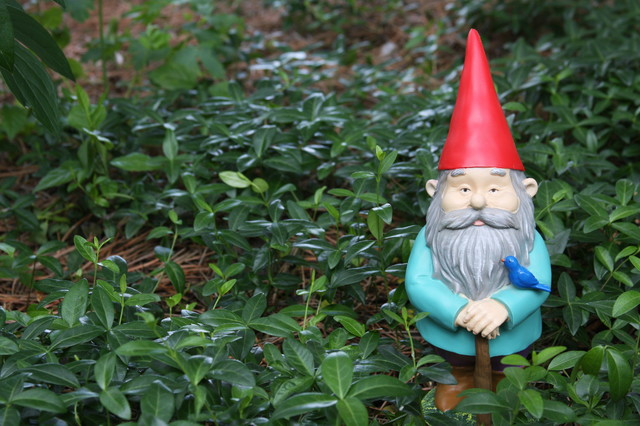 Watchful Gnome eclectic-garden-statues-and-yard-art