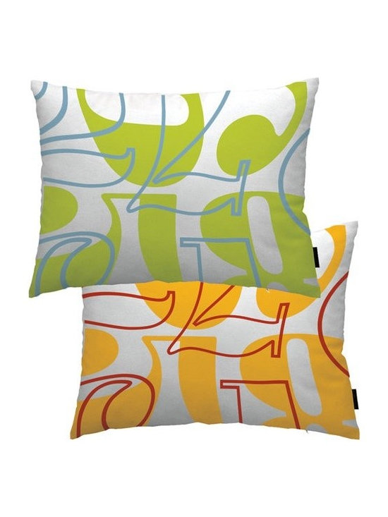 notNeutral Count Throw Pillow - The Count Pillow by notNeutral will add zing and dash to any room. Use it as a boudoir pillow to give your bed a modern twist, or a fun pillow in any room.