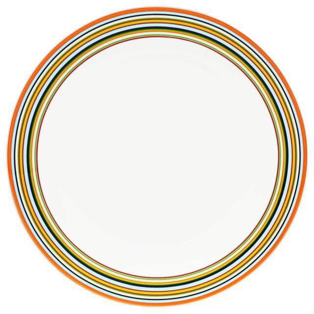 Origo Dinner Plate, Orange contemporary-dinner-plates