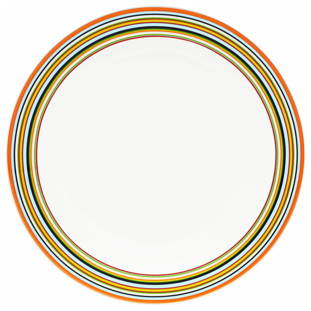 Origo Dinner Plate, Orange contemporary-plates