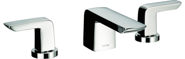 Toto TL220DD1#PN Vivian Widespread Lavatory Faucet with Lever Handles modern-bathroom-faucets-and-showerheads