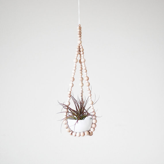 Hanging Air Plant Hanger By AM RADIO eclectic-indoor-pots-and-planters