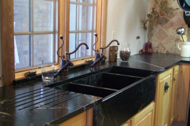 Soapstone Installed Kitchen