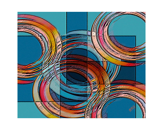 Links by Ben and Raisa Gertsberg - canvas art, art print, giclee - Abstract Art series, by award-winning artists Ben and Raisa Gertsberg, aka BRG, who collaborate under the name It's a Beautiful World!