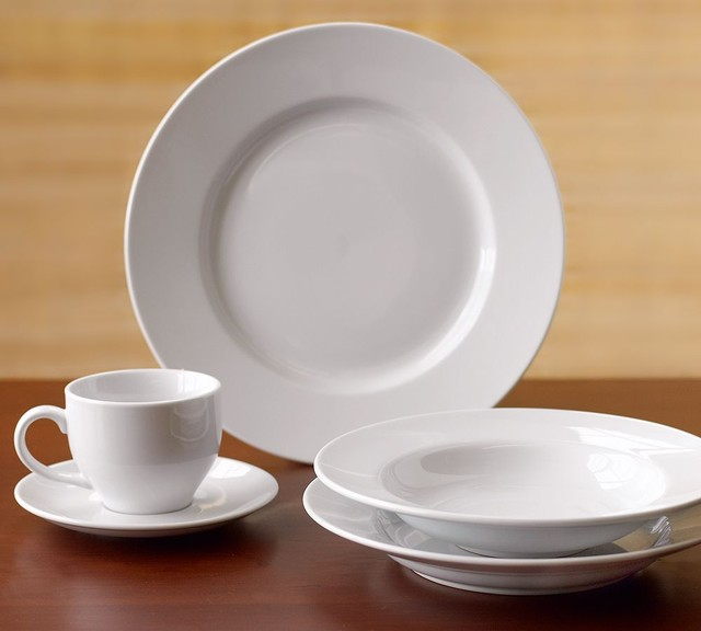 Great White Dinnerware - Traditional - Dinnerware - by Pottery Barn