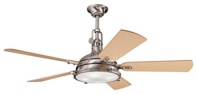 "Kichler Lighting - 300018BSS - Hatteras Bay - 56"" Porthole Fan transitional-ceiling-fans"