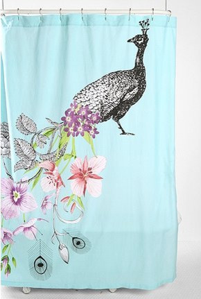 Peacock Shower Curtain eclectic shower curtains