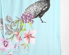 Peacock Shower Curtain eclectic-shower-curtains