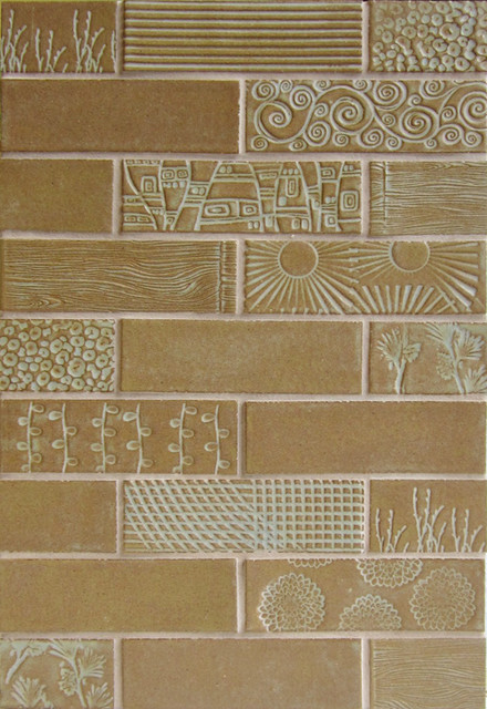 X6 Subway Tile With Textures Eclectic Tile Other Metro By