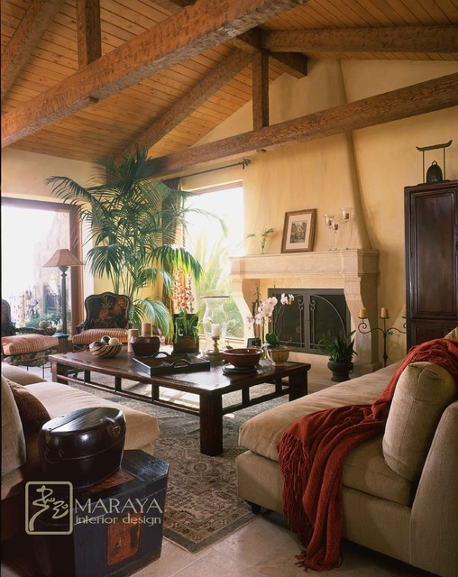 Italian Living Room Design: Tuscan Italian Living Room
