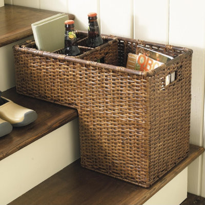 Rattan Stair Basket traditional-baskets