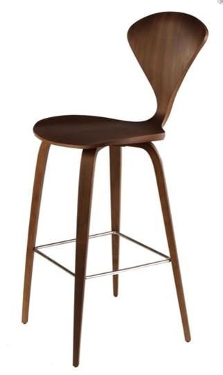 Satine Counter Stool Dark Walnut Modern Bar Stools