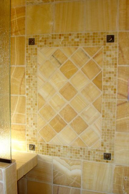 Master Bathroom Onyx Tiled Shower