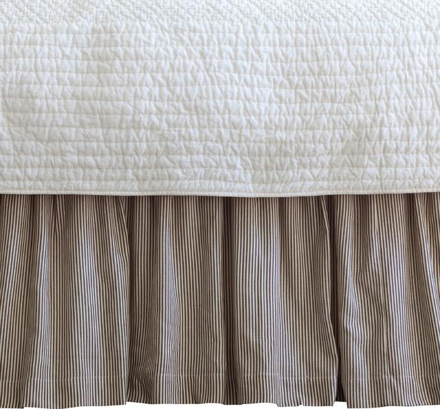 Farmhouse Stripe Full Bed Skirt traditional-bedskirts