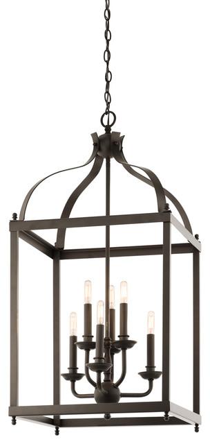 Foyer Caged Chandelier : Kichler oz foyer pendant cage lt transitional