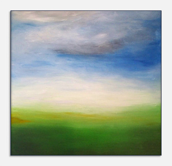 Original Abstract Landscape Canvas Modern Acrylic Painting