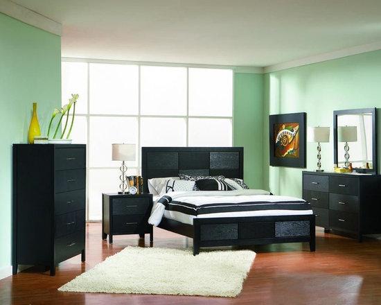 Bedrooms Furniture - Casual Black Master Bedroom Set