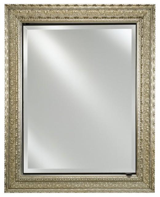 Afina signature collection single door 24w x 30h in recessed medicine cabinet modern - Modern medicine cabinets recessed ...