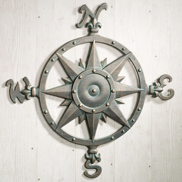 Exterior House Wall Art Magnificent Indoor Outdoor Nautical Compass Metal Wall  Art Ocean Decor Living Decorating
