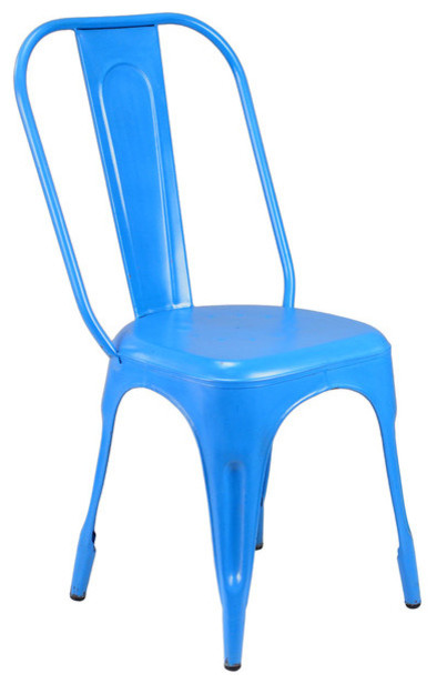 Felix Chair - Mild Distress in Blue industrial-dining-chairs