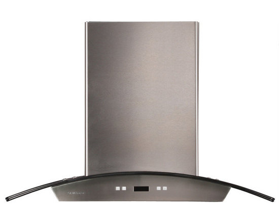 Cavaliere - Cavaliere-Euro SV218D-I30 Stainless Steel Island Mount Range Hood - Cavaliere Stainless Steel 218W Island Mounted Range Hood with 6 Speeds, Timer Function, LCD Keypad, Aluminum Grease Filters, and Halogen Lights