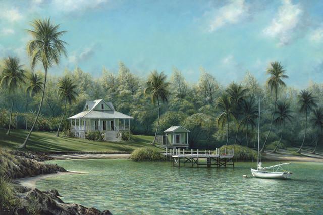 """Turtle Cove"" tropical-artwork"